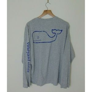 Vineyard Vines M Long Sleeve Pullover Shirt Gray